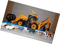 "Farmer John Big Construction Tractor 15"" Long Toy & 10 Farm"