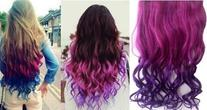 SUMERSHA Fashion Sexy Two Tone Long Curl/curly/wavy Clip in