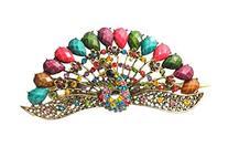 CAETLE Fashion Vintage Jewelry Crystal Peacock Hair Clip E-