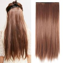 "TOOGOO Fashionable 23"" Light Brown Straight Full Head Clip"