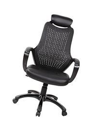 EuroStile Fashionable Office Chair, High Back Black Mesh