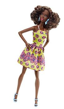 Barbie Fashionistas Doll 20 Fancy Flowers - Original