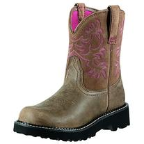 Ariat Women's Fat Bomber Cowgirl Boot Round Toe Brown 7.5 M