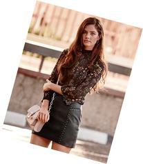 Morgan Faux Leather Biker Skirt