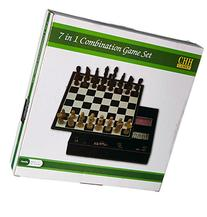 Faux Leather Game Set with A Variety of Tabletop Games,