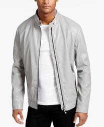 Calvin Klein Men's Faux Leather Moto Jacket