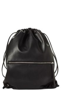 Phase 3 Faux Leather Sling Backpack - Black