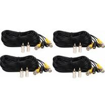 VideoSecu 4 Pack 50ft Feet Pre-made All-in-One Video Power