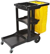 Rubbermaid Commercial Housekeeping 3-Shelf Cart with