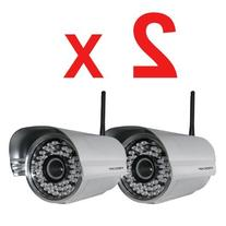 2 Pack Foscam FI8905W Outdoor Wireless/Wired IP Camera with