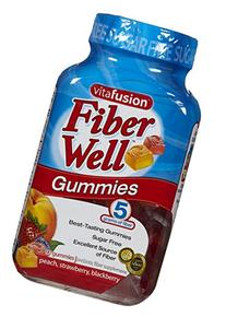 Vitafusion Fiber Well Gummies, Peach, Strawberry and