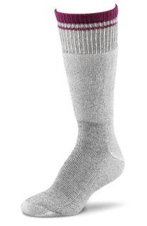 Fox River Women's Her Field Boot Socks, Charcoal Mix/Berry,