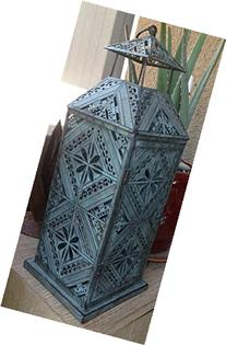Pottery Barn Filigree Patterned Galvi Lantern - Large