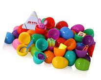 Toy filled Easter eggs, surprise eggs filled with Easter