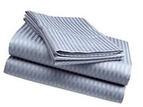Deluxe Hotel 4-Piece Bed Sheet Set - Dobby Stripe - 100%