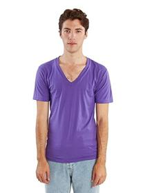 American Apparel  Unisex Fine Jersey Short Sleeve V-Neck,