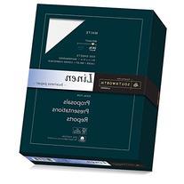 Southworth Fine Linen Paper, 25% Cotton, 24 lb, White, 500