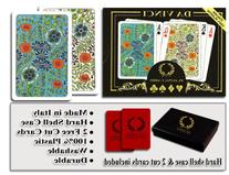 Da Vinci Fiori, Italian 100% Plastic Playing Cards, 2-Deck