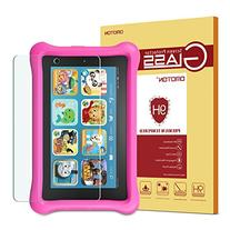 Fire Kids Edition Glass Screen Protector, OMOTON Tempered