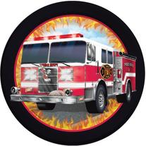 "Fire Watch Luncheon Plate 7"" Fire Truck  Birthday Party"