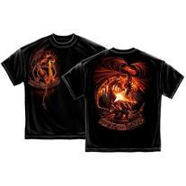 Firefighter Fear no Evil T-shirt by Erazor Bits, Black
