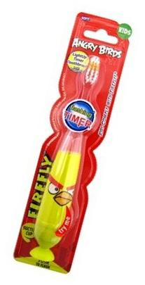 Firefly Toothbrush Angry Birds Flashing 1 Min Timer