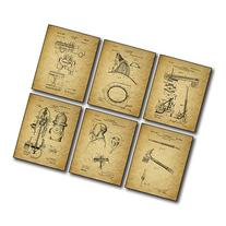 Firemen Patent Wall Art Prints - Set of Six 8x10 Photos -