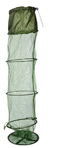 Andoer 1.5M Fish Net Cage Fishing Tackle Care Creel 5 Layers