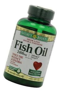 Nature's Bounty Fish Oil 2400 mg Double Strength Odorless,
