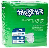 Medline FITPLUSMD FitRight Plus Briefs, Heavy Absorbency, 32