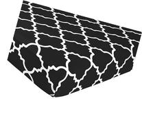 Fitted Crib Sheet for Red, Black and White Lattice Baby/