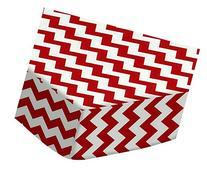 SheetWorld Fitted Portable / Mini Crib Sheet - Red Chevron