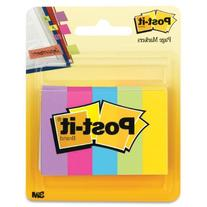 Post-it® Page Markers, 1/2-inch x 1-3/4 Inch, Ideal for