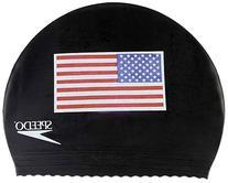 Speedo Latex 'Flag' Swim Cap, USA Black