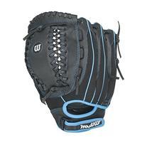 Wilson Flash Youth Fastpitch Softball, Black/Columbia Blue,