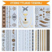 Glitz by Mottos Temporary Metallic Jewelry Tattoos, Colors