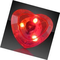 Flashing Huge Heart Shaped Gem Light Up Ring