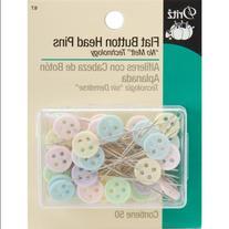 Flat Button Head Pins-50/Pkg
