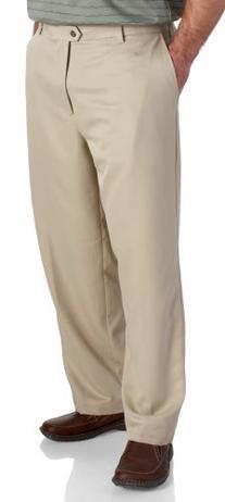 IZOD Men's Flat Front Classic Fit Microsanded Golf Pant,