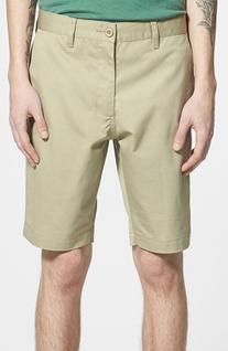 Men's Rvca Flat Front Twill Shorts, Size 29 - Beige
