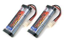 2 pcs 7.2V 3000mAh Flat NiMH High Power Battery Packs with
