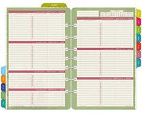Day-Timer Flavia Weekly Desk-Size Refill 2015, 5.5 x 8.5