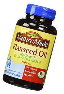 Nature Made Flaxseed Oil 1000mg, 100 Liquid Softgels
