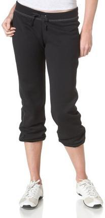 Soffe Juniors Fleece Roll Up Capri, Black, Medium