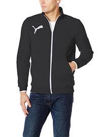 PUMA Men's Fleece Track Jacket, Black/Mazarin Blue Heather,