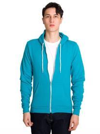 American Apparel  Unisex Flex Fleece Zip Hoodie, Purple,