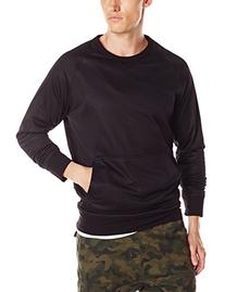 Zanerobe Men's Flight Crew Sweatshirt, Black Mesh, X-Large