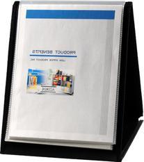 Lion Flip-N-Tell Display Book-N-Easel, Letter, 20-Pocket,