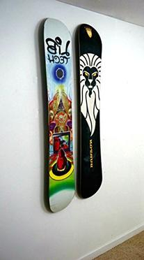 Floating Snowboard Wall Mount - Deck Display Rack -