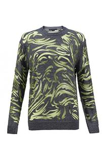 Alexander Wang Paisley-Flocked Pullover Sweater - L